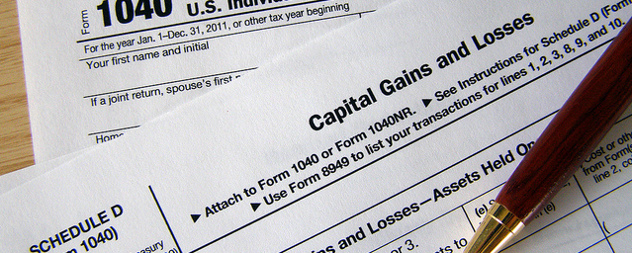 pen and IRS capital gains and losses form detail