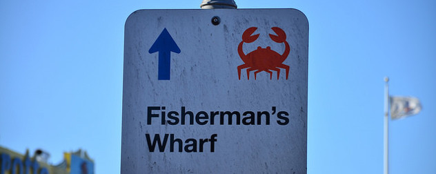 sign indicating the direction of Fisherman's Wharf, San Francisco