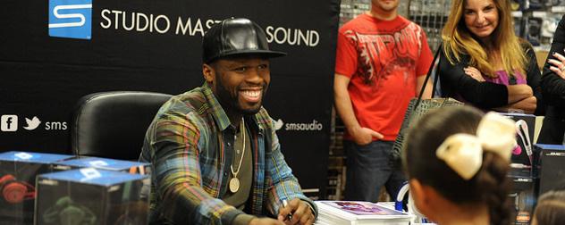 Rapper 50 Cent at a promotional event
