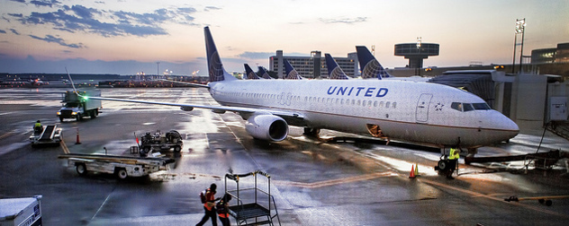 United airplanes on the tarmac at George Bush International in Houston
