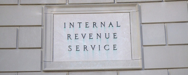 stone sign reading 'Internal Revenue Service'