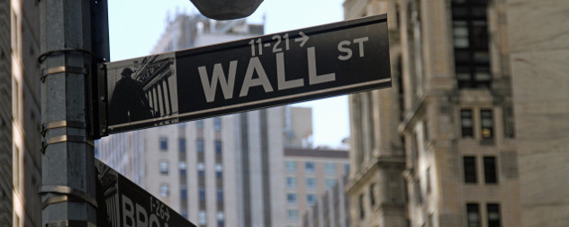 Wall St. street sign detail