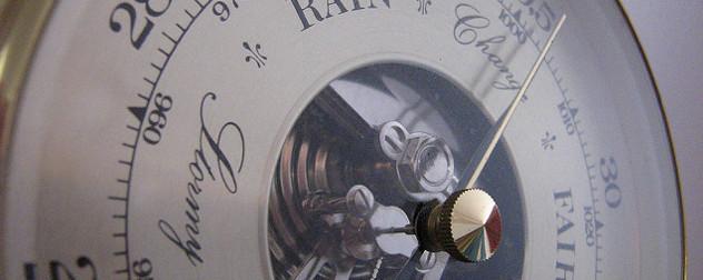 detail of analog barometer