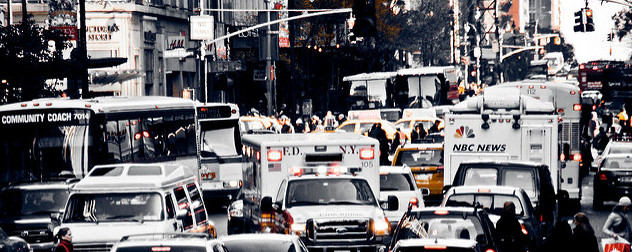 gridlock traffic in Herald Square