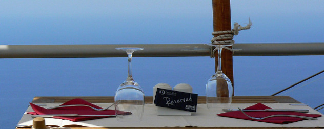 reserved restaurant table for two