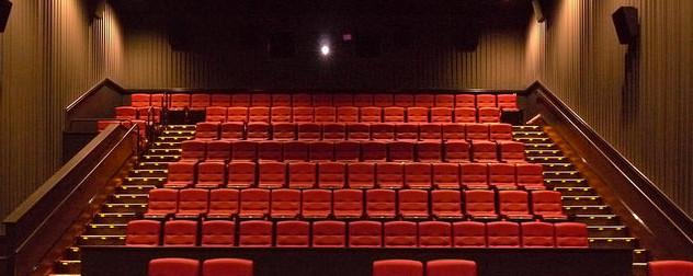 empty movie theatre, facing projector