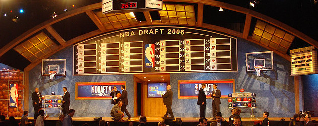 Draft board and stage prior to the 2006 NBA draft