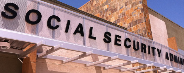 Social Security Administration building sign