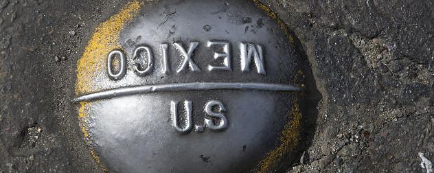 U.S.-Mexican border boundary marker