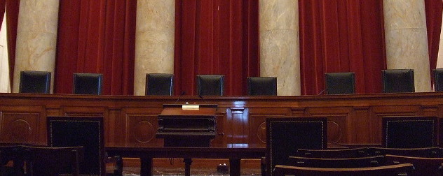 empty interior of the U.S. Supreme Court