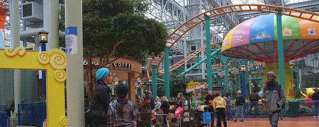 Mall of America interior, including rides