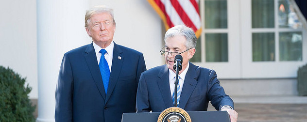 Donald Trump and Jerome Powell at the White House
