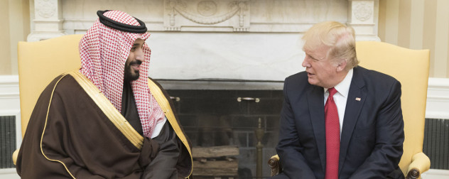 Mohammed bin Salman and Donald Trump
