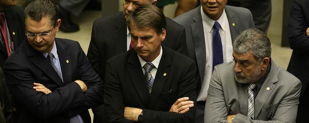 Sostenes Cavalcante, Jair Bolsonaro and Laerte Bessa