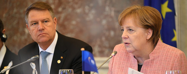 Klaus Iohannis and Angela Merkel