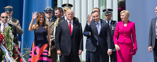 Melania Trump, Donald Trump, Andrzej Duda and Agata Kornhauser-Duda