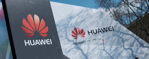 Huawei logo at a launch event