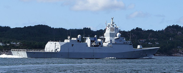 KNM Helge Ingstad, involved in the latest in a series of high-profile naval collisions