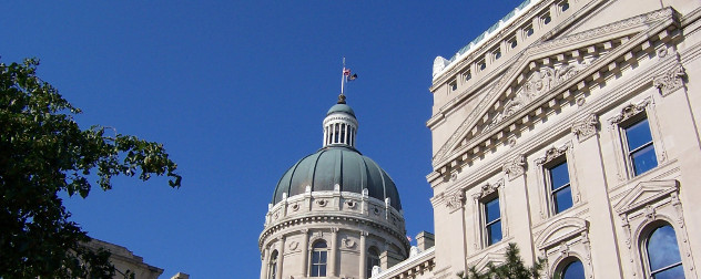 Indiana Statehouse dome (detail).