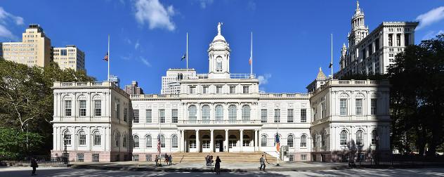 facade of New York City Hall.
