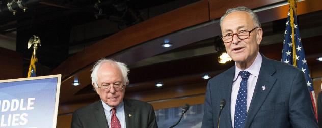 Bernie Sanders and Chuck Schumer.