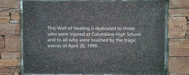 Columbine memorial.