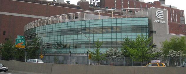 Con Ed building exterior.