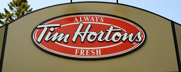 Tim Hortons exterior sign.