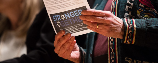 flier with 'Stronger Together' logo.
