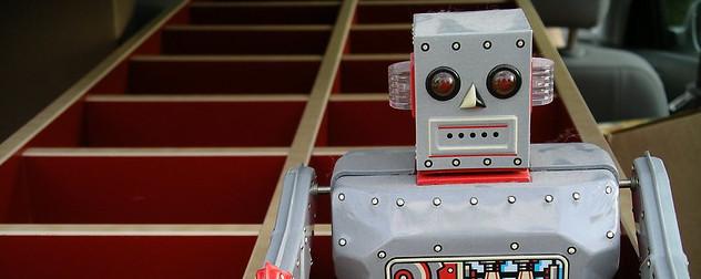 toy robot detail.