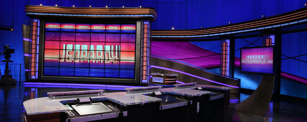 Jeopardy filming set.