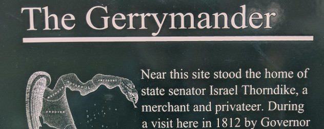 historical marker title 'The Gerrymander.'