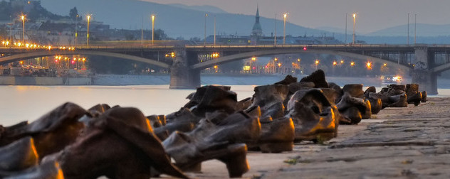Shoes on the Danube sculpture.