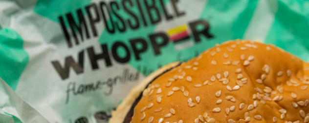Burger King Impossible Whopper, one of many meat substitutes coming to fast food restaurants.