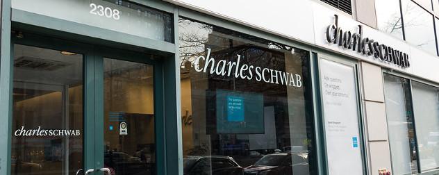 Charles Schwab storefront.