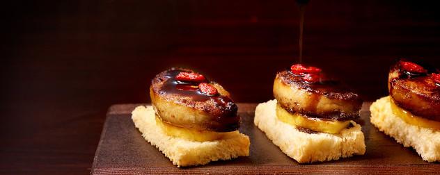 pan-seared duck foie gras.