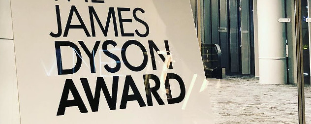 sign that reads 'The James Dyson Award.'