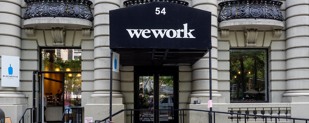 WeWork space entrance in Manhattan.