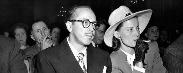 Dalton and Cleo Trumbo at the 1947 UHAC Hearings.
