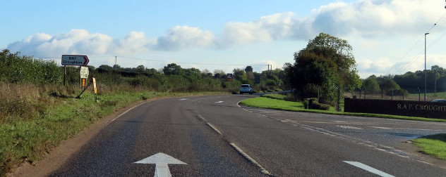 motorway leading to Royal Air Force Croughton, near the location of the crash that killed Harry Dunn and set off a debate about diplomatic immunity.