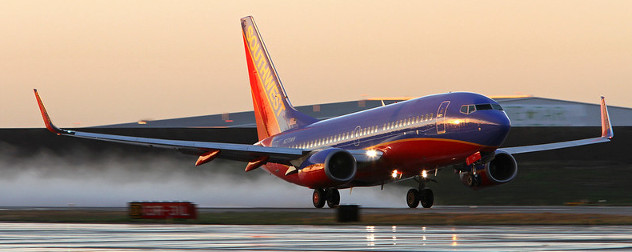 Southwest Boeing 737-700 taking off.