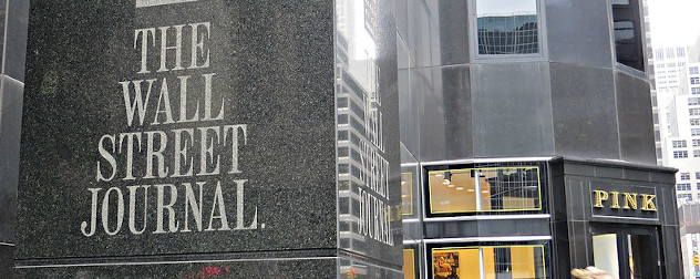 Wall Street Journal corporate headquarters in New York, NY.