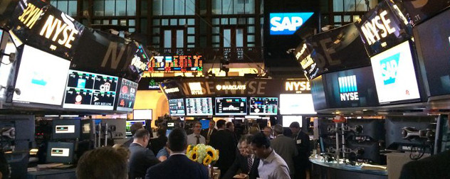 party on the floor of the New York Stock Exchange  (NYSE).