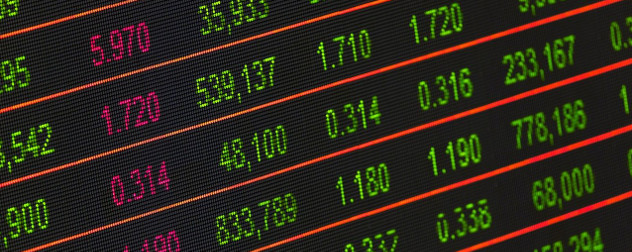 stock market data display.