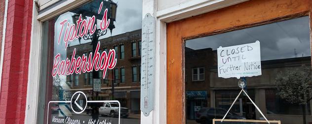 Tipton's Barbershop in Logan, OH.
