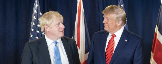 President Trump meeting with British Prime Minister Boris Johnson at the United Nations Headquarters in New York City.
