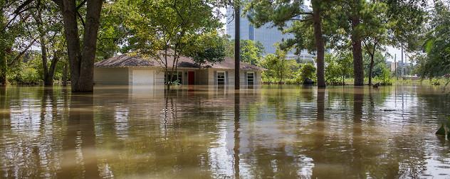 flood waters in the Energy Corridor neighborhood of Houston, September 2017.