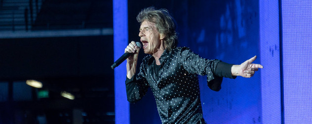 The Rolling Stones' lead vocalist, Mick Jagger.