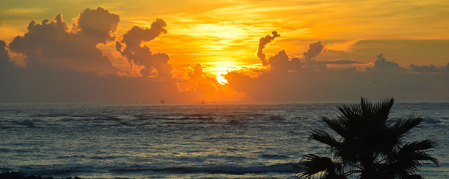 sunrise over the Atlantic at 'the Point' at Villano Beach in St. Augustine, Florida.