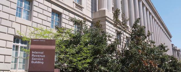 IRS building exterior.